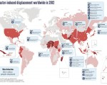(iDMC/NRC. Climate disasters displace millions of people worldwide in 2012 - map)