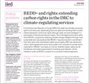 (REDD+ and rights. extending carbon rights in the DRC to climate-regulating services (IIED)