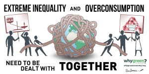 Inequality and overconsumption need to be dealt with together (Dario Kenner, Why Green Economy)