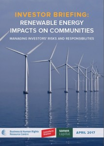 B&HRC renewable energy investor briefing cover